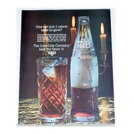 1964 Tab Cola Color Print Ad - 1 Calore Taste So Good
