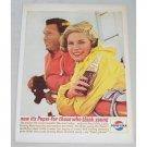 1963 Pepsi Cola Color Soda Soft Drink Print Ad - The Livelier Life