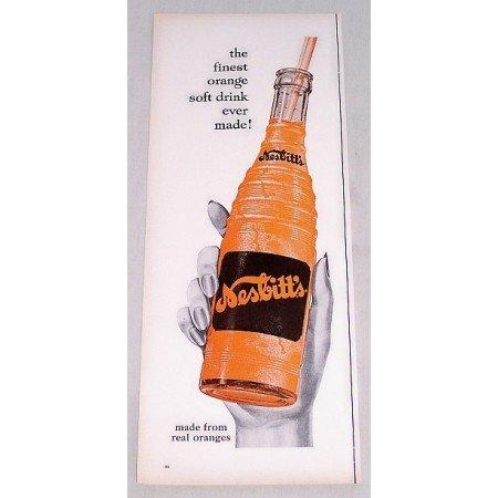 1956 Nesbitt's Orange Soda Color Print Ad - Finest Made