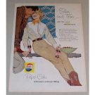1958 Pepsi Cola Western Art Soda Soft Drink Color Print Ad - Slim and Trim