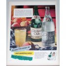 1948 Clicquot Club Ginger Ale Water Color Print Ad