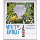 1966 7 UP Soft Drink Color Soda Print Ad - Wet & Wild