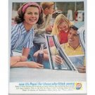 1961 Pepsi Cola Soft Drink Color Soda Print Ad - Today's Lively People