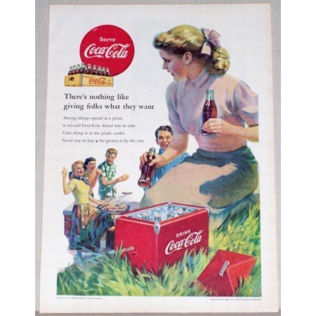 1952 Coca Cola Coke Soda Soft Drink Color Art Print Ad - Among Things Expected