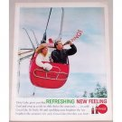 1962 Coca Cola Coke Soft Drink Skiing Ski Lift 11 Color Print Ad