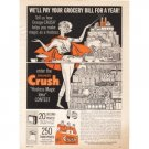 1962 Orange Crush Soda Color Art Print Ad - Hostess Magic Idea