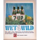 1966 7 UP Soft Drink 6 Pack Color Print 7up Ad - Wet & Wild