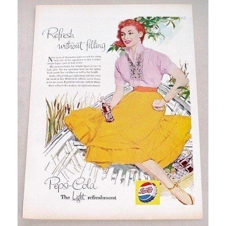 1956 Pepsi Cola Color Soda Art Print Ad - Modern Girl's Rewards