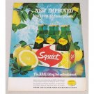 1964 Squirt Soda 6 Pack Carton Carrier Color Print Ad - Deep Chill