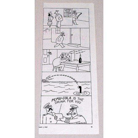 1944 Pepsi Cola Soda O. Soglow Art Print Ad - Loose Talk