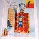 1962 I.W. Harper Gold Medal Kentucky Bourbon Decanter Color Print Ad