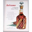 1953 Old Fitzgerald Whiskey Diamond Decanter Color Ad