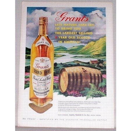 1960 Grant's Blended Scotch Whiskey Color Print Ad