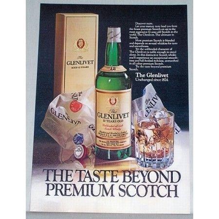 1979 Glenlivet Scotch Whiskey Color Print Ad