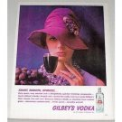 1961 Gilbey's Vodka Color Print Ad - Smart, Smooth, Sprite