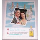 1961 Fleischmann's Dry Gin Color Print Ad
