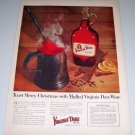 1954 Garrett's Mulled Virginia Dare Red Wine Color Print Ad
