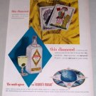 1953 Gilbey's London Dry Gin Color Print Ad - This Diamond