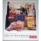 1962 Early Times Bourbon Whiskey Color Print Ad