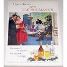 1962 Fleischmann's Dry Gin Color Print Ad - Open House