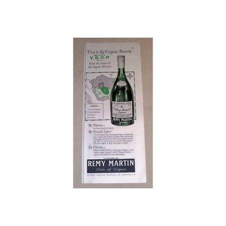1954 Remy Martin Cognac Brandy Print Ad - Cognac District