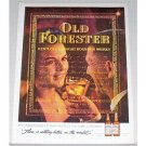 1961 Old Forester Kentucky Bourbon Whiskey Color Print Ad