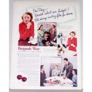 1949 Burgundy Wine Color Print Ad - Dear Diary