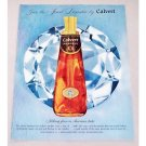 1956 Calvert Whiskey Jewel Decanter Color Print Ad