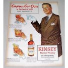 1946 Kinsey Whiskey Cocktail Cut-Outs Art Color Print Ad
