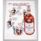 1943 Glenmore Bourbon Whiskey Color Art Print Ad - Go For Glenmore