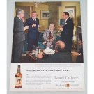 1956 Lord Calvert Whiskey Color Print Ad MacKinlay Kantor