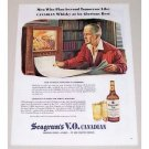 1945 Seagram's Whiskey Color Art Print Ad - Newspaper Of Tommorow