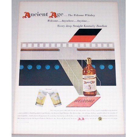 1948 Ancient Age Kentucky Bourbon Whiskey Color Print Ad