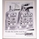 1960 Gordon's Distilled London Dry Gin Print Ad
