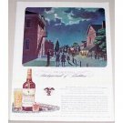 1944 Philadelphia Blended Whisky Whiskey Bingham Art Color Print Ad