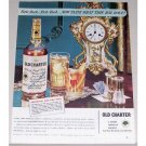 1944 Old Charter Bourbon Whiskey Table Clock Color Print Ad