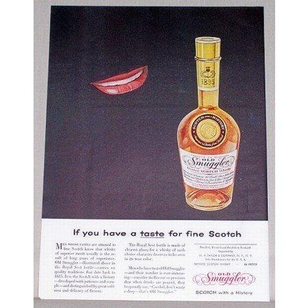 1955 Old Smuggler Scotch Whiskey Color Print Ad - Have A Taste