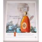 1955 Old Grand Dad Bourbon Whiskey Decanter Color Print Ad