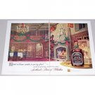 1955 Chivas Regal Blended Scotch Whiskey 2 Page Color Print Ad