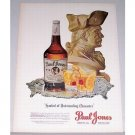 1948 Paul Jones Whiskey Color Print Ad - Outstanding Character