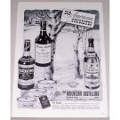 1943 American Distilling Company Winter Art Print Ad