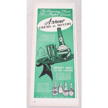 1947 Arrow Creme de Menthe Liqueurs Print Ad - Crowning Touch