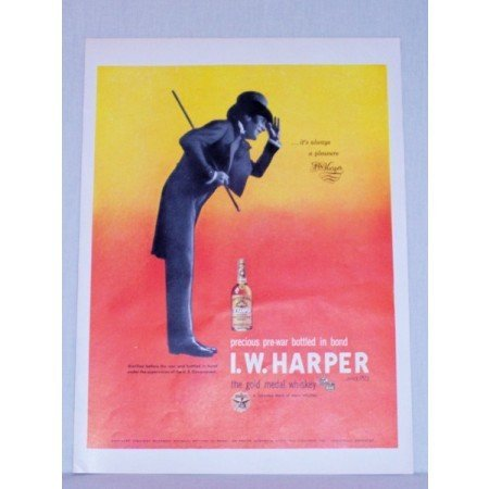 1948 I.W. Harper Kentucky Bourbon Whiskey Color Print Ad
