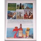 1960 Seagram's 7 Blended Whiskey Color Print Ad - Vacation USA