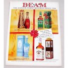 1961 Jim Beam Whiskey Gift Decanters Color Print Ad