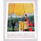 1961 Seagram's 7 Crown Whiskey Color Art Print Ad
