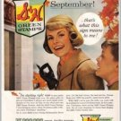 1960 S & H Green Stamps Color Print Ad - Christmas In September