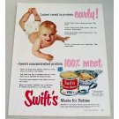 1953 Swift's Meats For Babies Color Print Ad - Protein Early