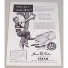 1955 A&P Jane Parker White Bread Print Ad - Give Me A Boost