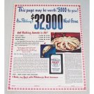 1947 Pillsbury's Best Flour Color Print Ad - Pillsbury's Word Game
